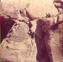 Jan rock climbing