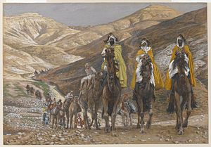 wise men300px-Brooklyn_Museum_-_The_Magi_Journeying_Les_rois_mages_en_voyage_-_James_Tissot_-_overall2