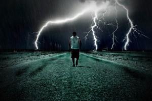 man-and-lightning